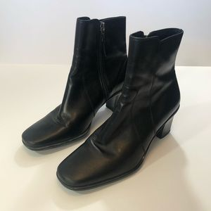 Cole Haan Black Leather Booties